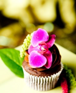 Crave Bakery Gluten Free Orchid Cupcakes by New Image Studio
