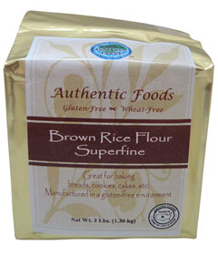 Crave Bakery Recommended Gluten Free Flours Authentic Foods Brown Rice Flour